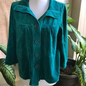 Blue-green '50s-inspired top